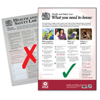 Comply with legal requirements and buy a Health and Safety Law poster